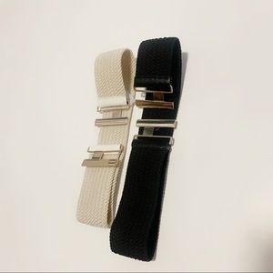 🌸Black and cream waist belts set of 2